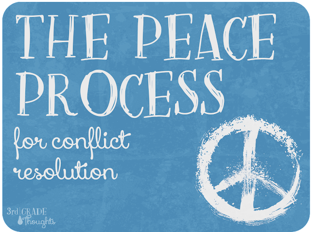 The Peace Process For Conflict Resolution Freebie 3rd Grade Thoughts