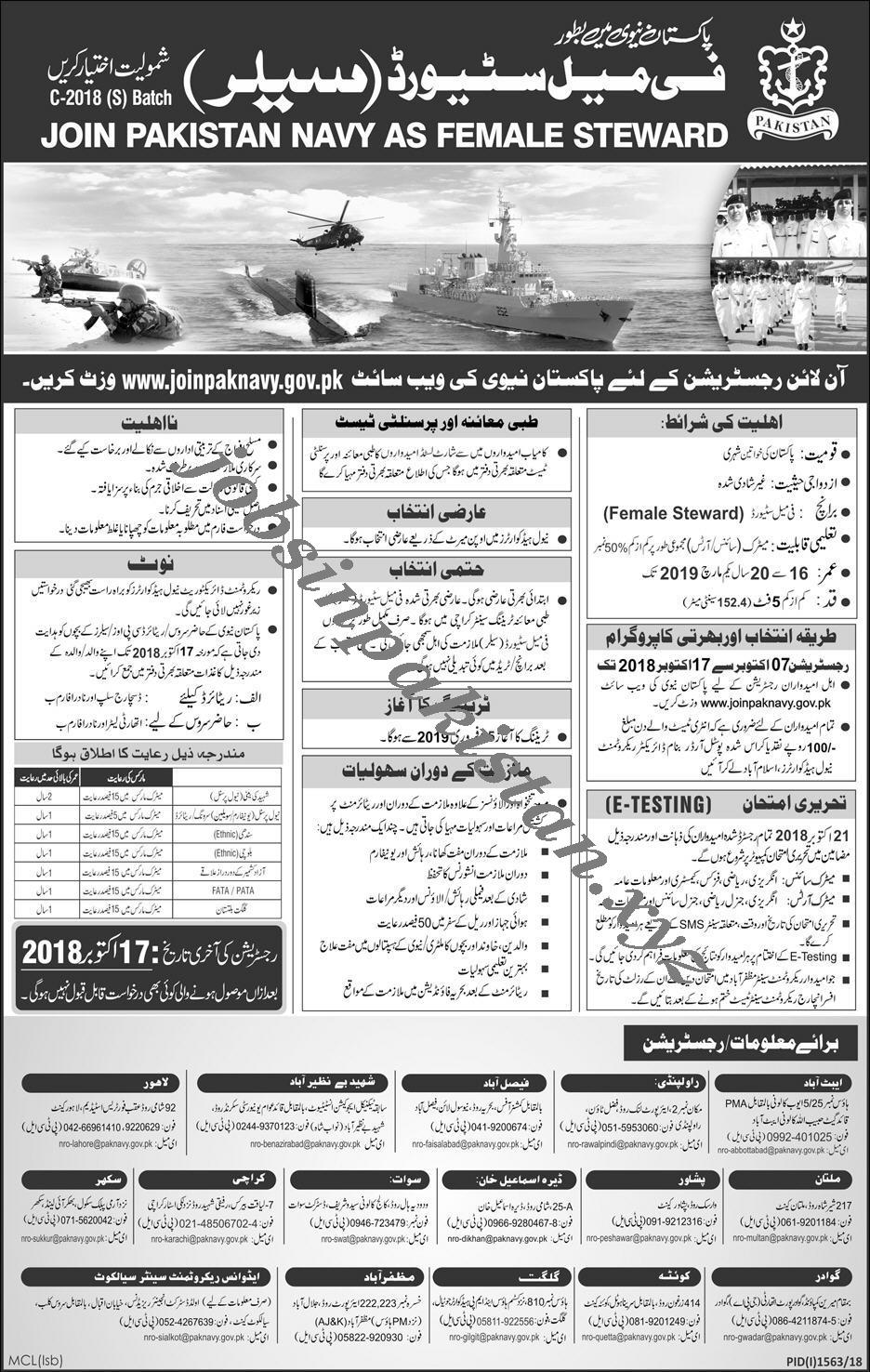 Pakistan Navy Jobs 2018 Advertisement