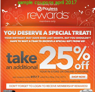 free Payless Shoes coupons april 2017