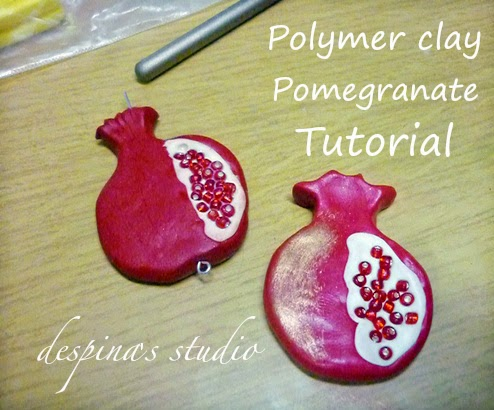 Polymer clay Pomegranate fruit tutorial