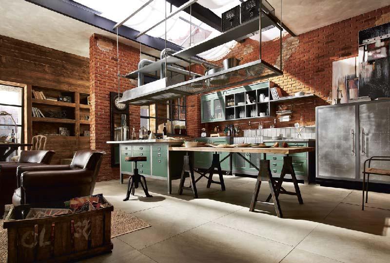 Cucina in stile industriale vintage: libertà espressiva e mix di ...