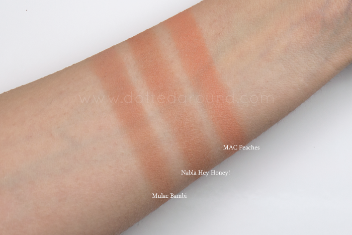 Nabla hey honey swatch blush