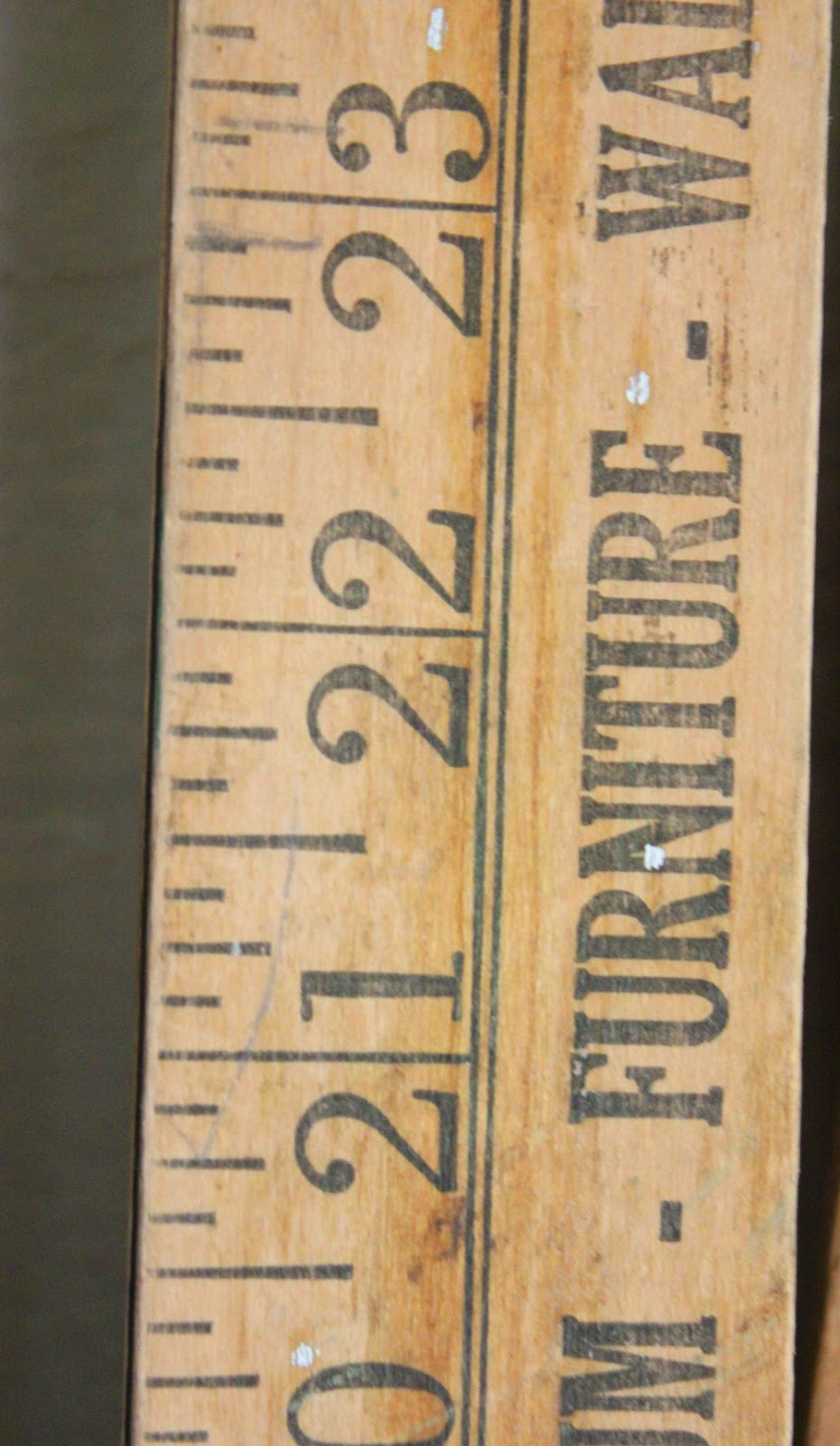 Vintage New Old Stock Advertising Wooden Yard Sticks Yardsticks Lot of 5