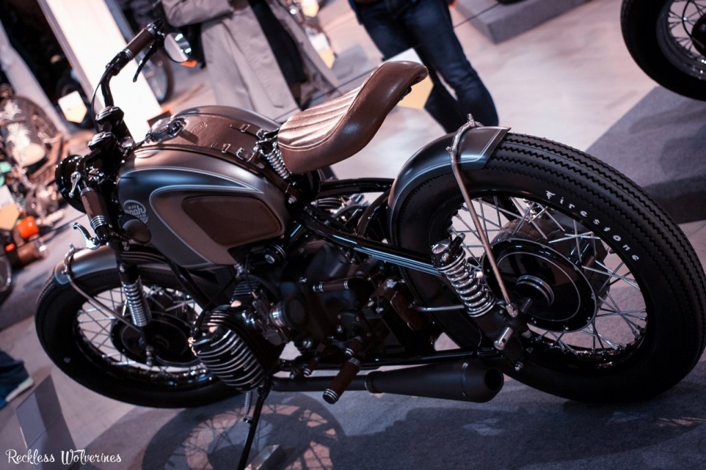 another view on this custom M-72 motorcycle