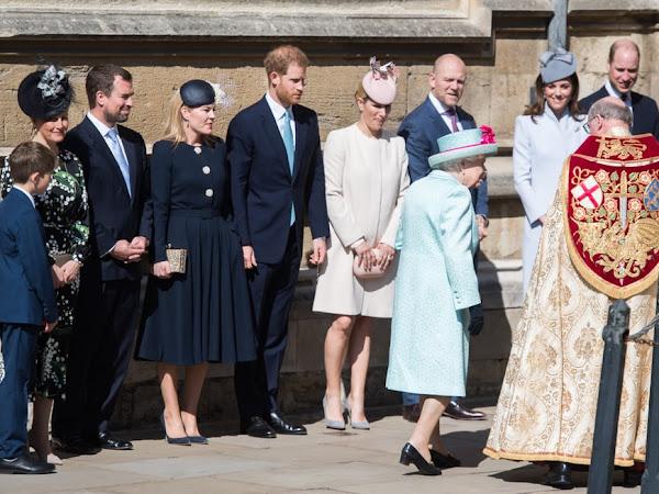 Rodzina Królewska na Mszy Wielkanocnej w Windsorze.