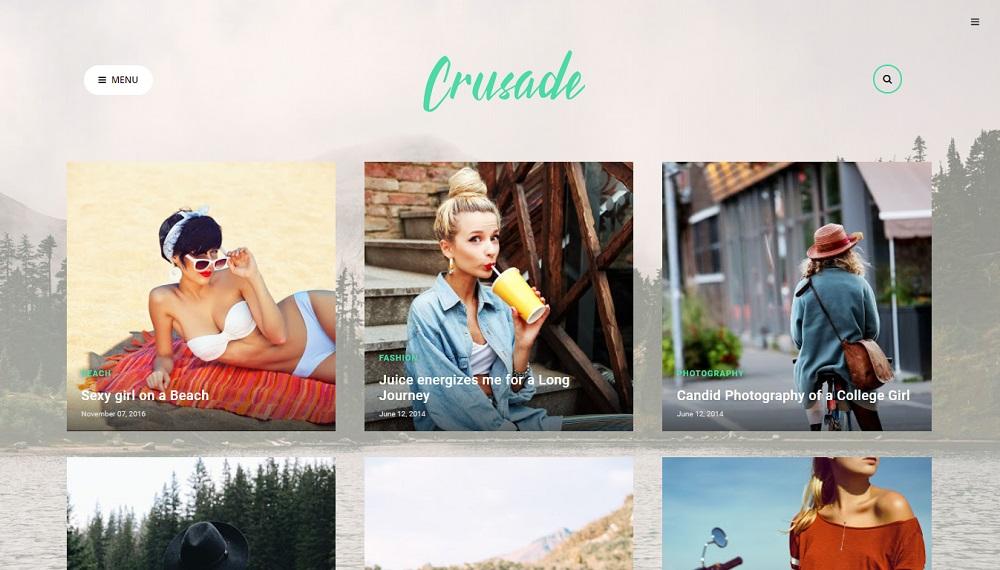 Crusade v1.0 - Responsive Photography Blogger Template