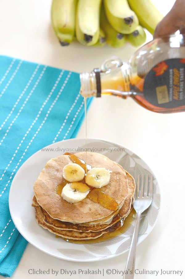 eggless banana pancakes, banana pancakes recipe