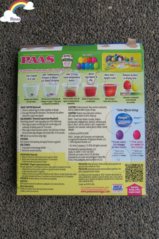 paas deluxe decorating kit instructions