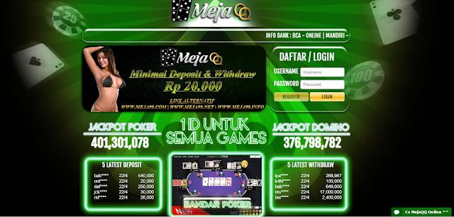 Agen Poker Online | Agen Domino Online | Agen Ceme Online  Mejaqq adalah Agen Bandarq Terbesar di Asia