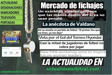 """El Mural de la Información """"El Arbitraje"""" - Árbitros de Fútbol ... 6b842ae1c1fe8"""