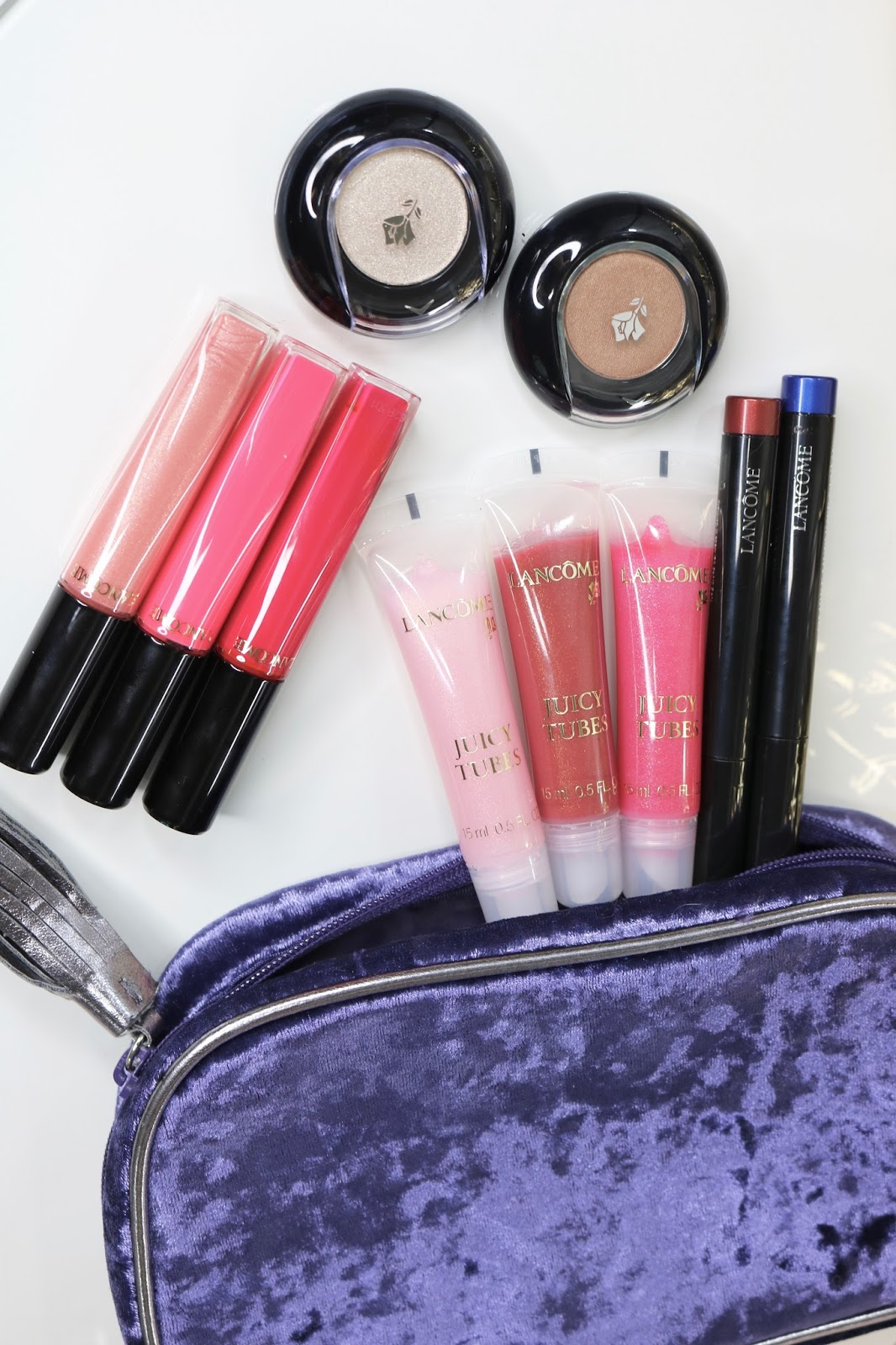 You Loved My Last Lancome Makeup Giveaway So I Thought Will Top That One With A Total Value Of 229 Plus Cute Purple Velvet Bag
