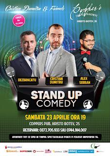 Stand-Up Comedy Sambata 23 Aprilie @Copper's Pub