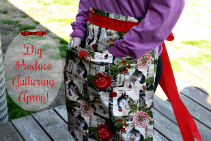 DIY Produce Gathering Apron