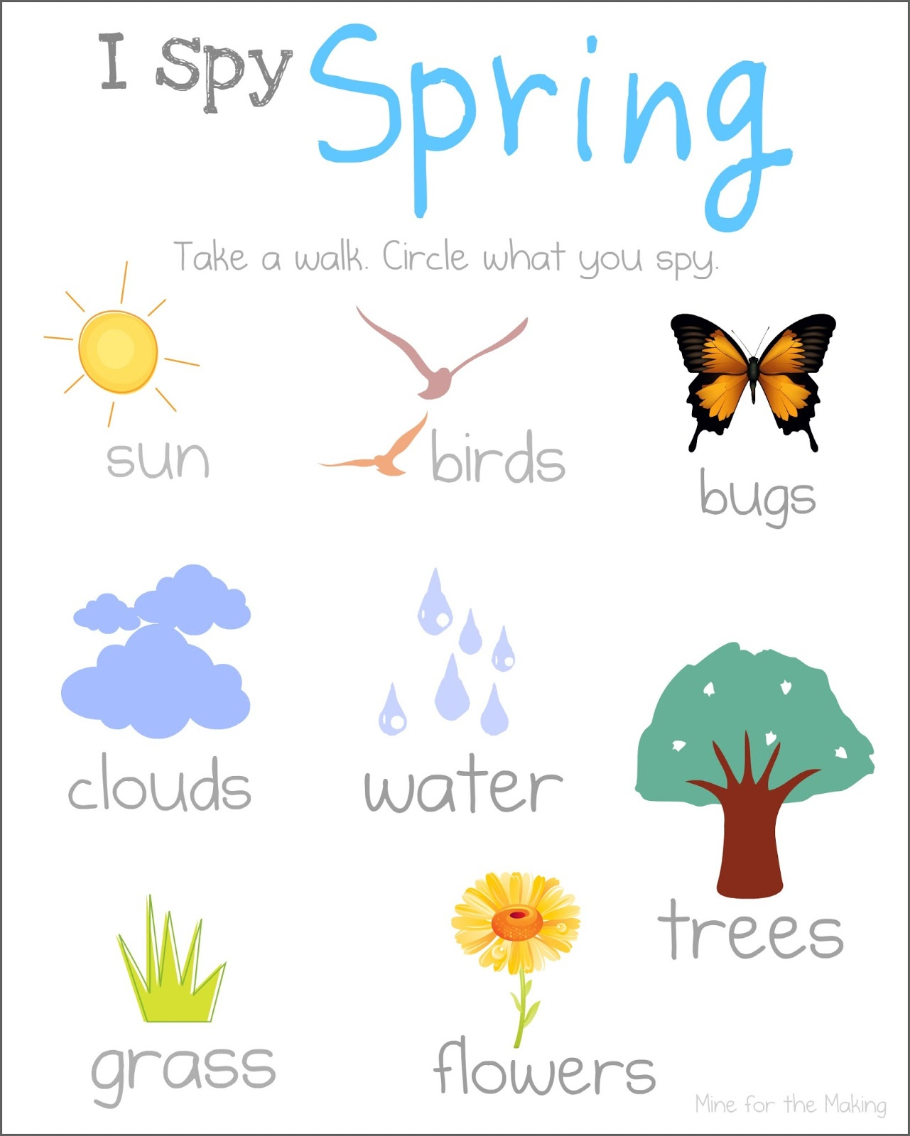 Tot School Tuesday I Spy Spring