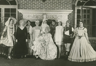 A photograph of the 1929 winter carnival court.