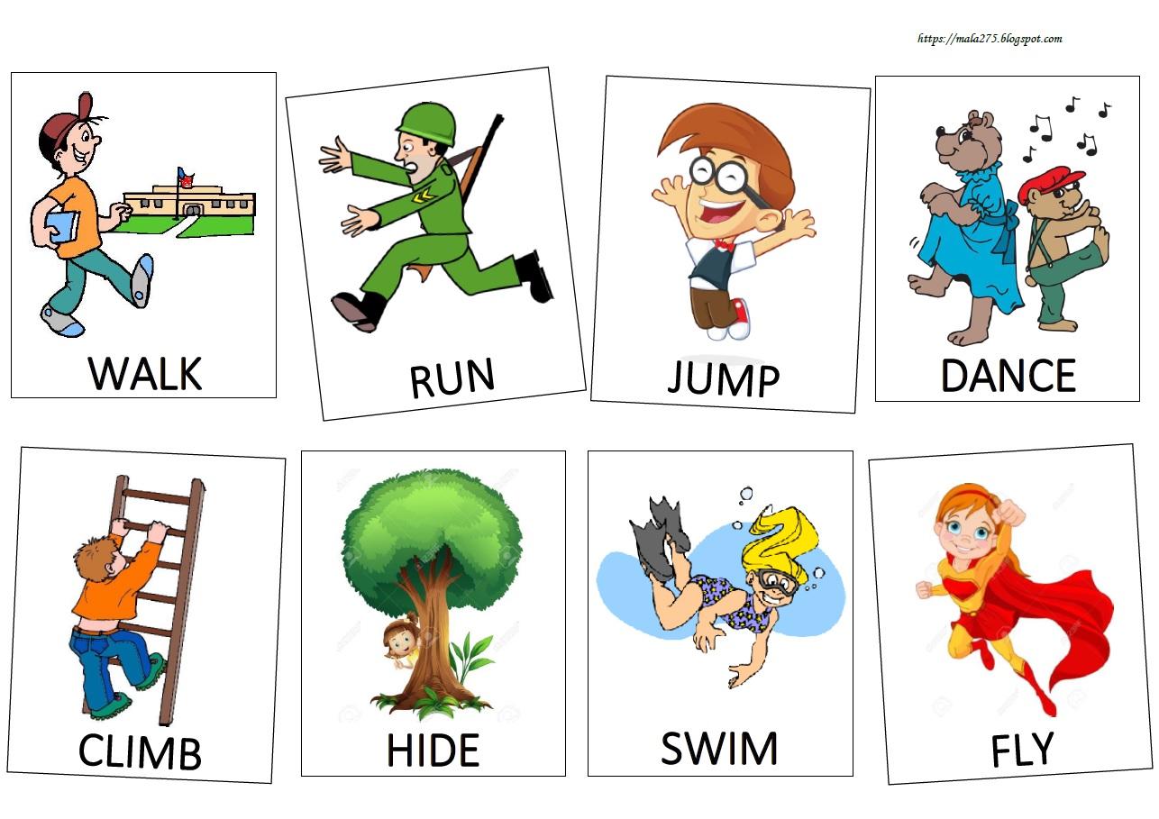 Blog Edukacyjny Dla Dzieci Action Verbs