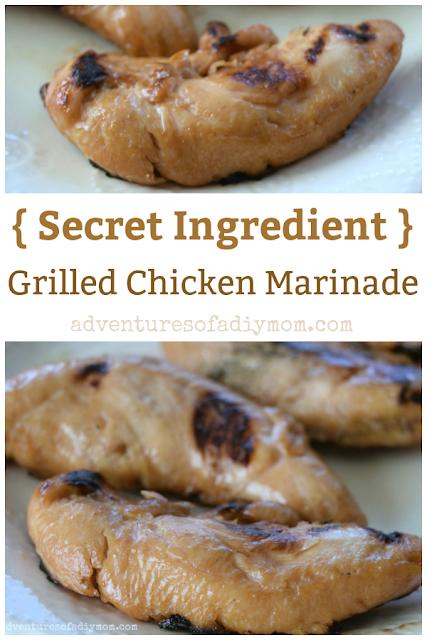 collage of marinated chicken