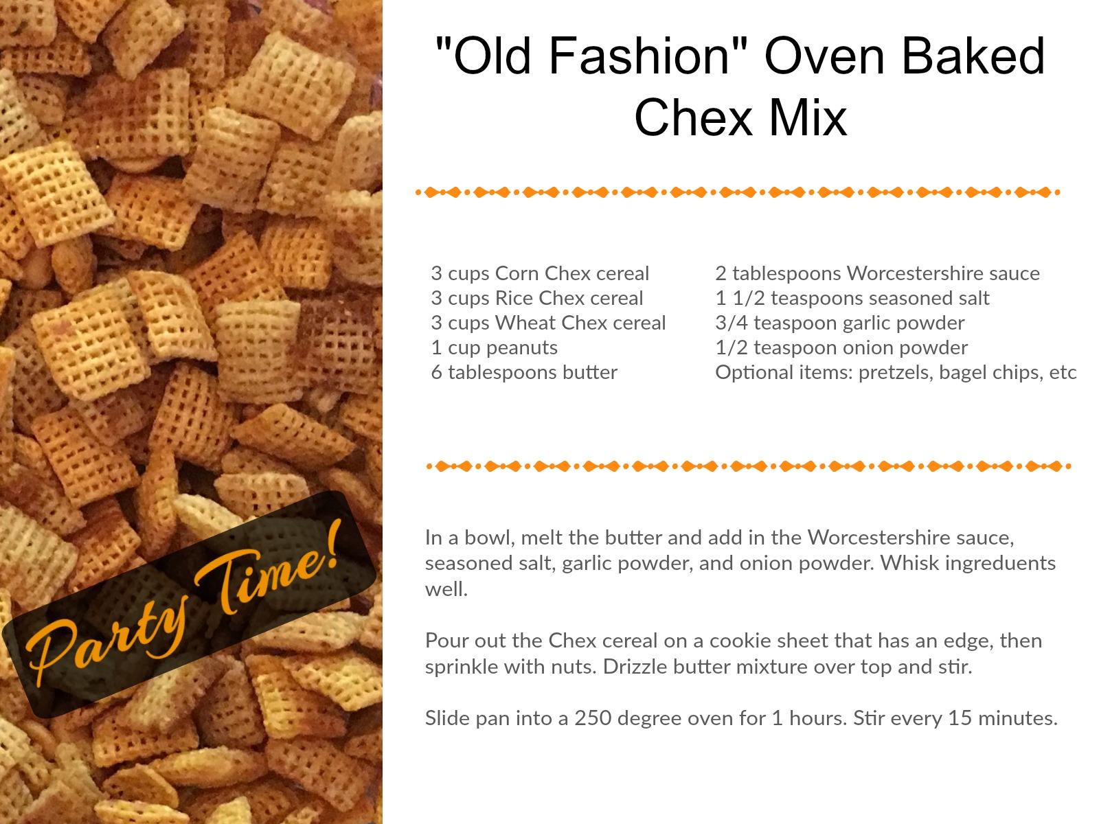 how to make chex mix in the oven