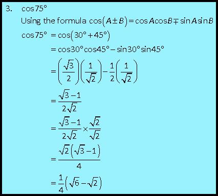 Example of question 1 : Solving trigonometric equations involving ...