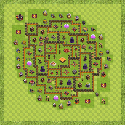 War Base Town Hall Level 10 By Andy Senechie'Fm (A TH 10 Layout)