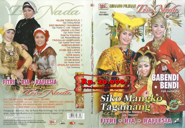 Trio Nada - Siko Mangko Tagamang (Album Minang Pilihan Vol 2)