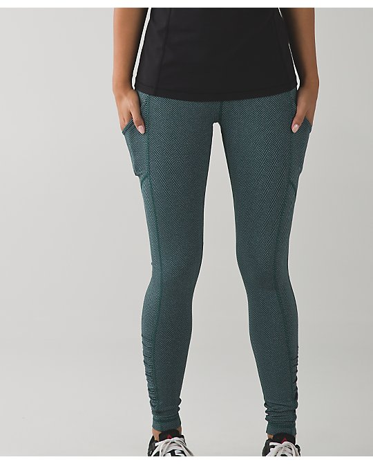 lululemon forage-teal-herringbone-speed-tight
