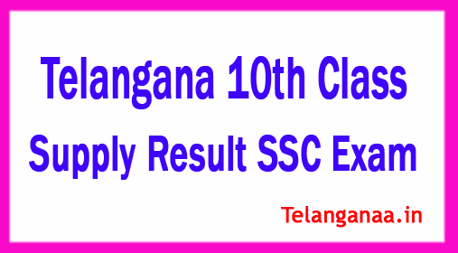 Telangana 10th Supply Result SSC Exam 2019 Supply Results