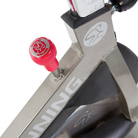 Micro-adjustable resistance knob & push-down brake on Spinner S7 and S5 spin bikes