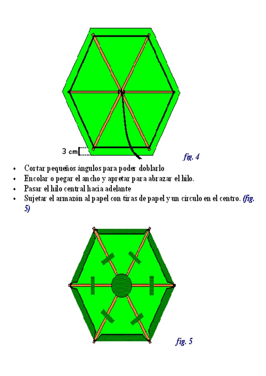 5bf19675e Charlyhandyman: Como hacer una cometa hexagonal
