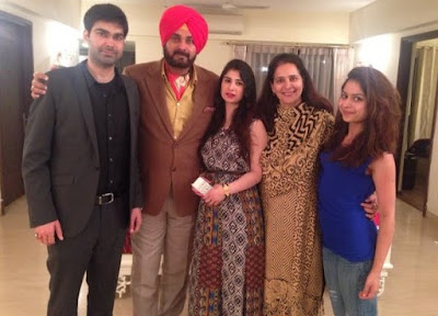 Indian Cricketer Navjot Singh Sidhu With Family