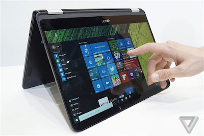 acer spin 7 thinnest convertible laptop