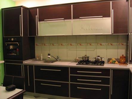 кухня цвета венге в интерьере