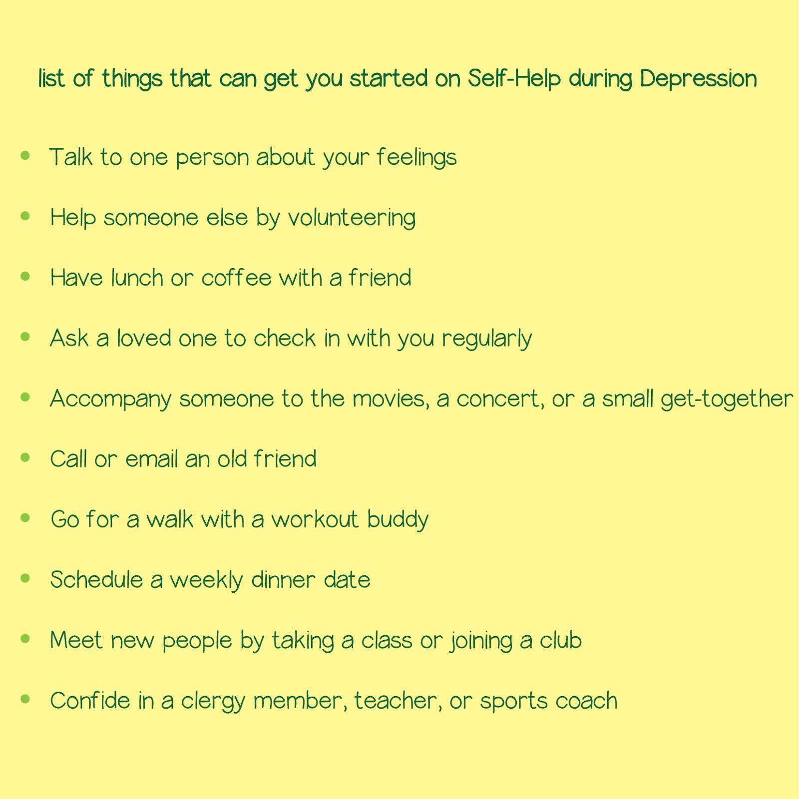 natasha essentials: depression and self-help
