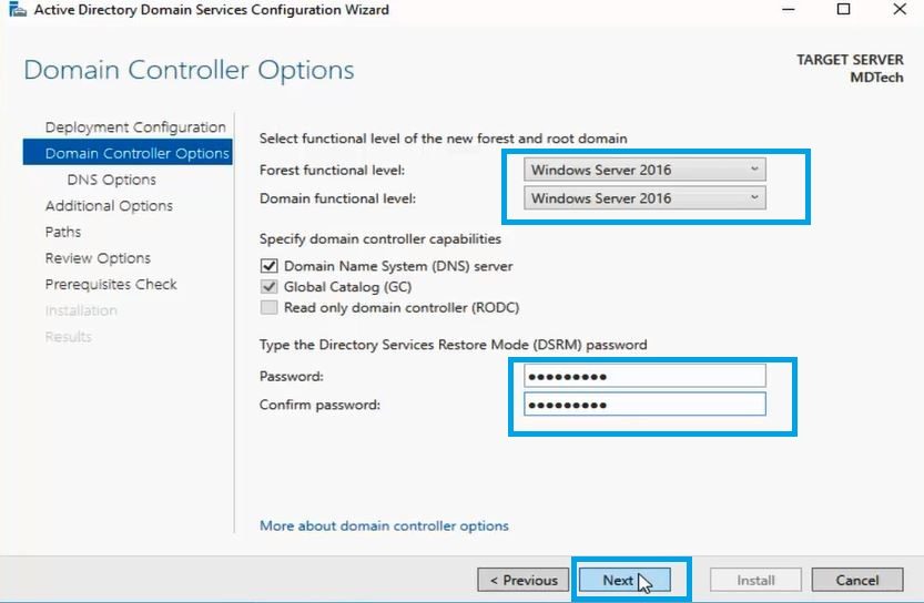 How to Installing and Configuring Active directory in windows server 2016