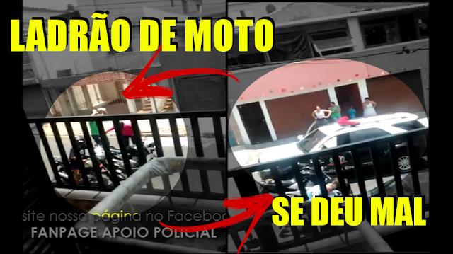 [VÍDEO] LADRÃO DE MOTO TEM ASSALTO FRUSTRADO