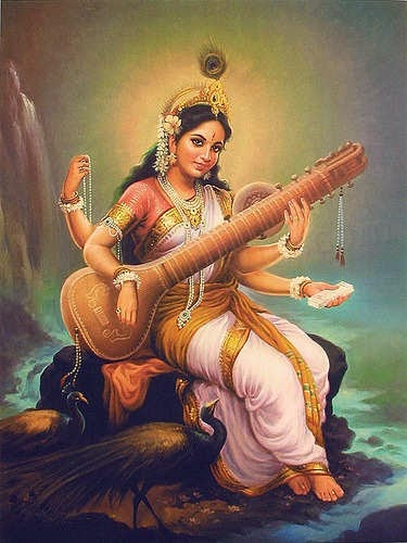 Saraswati maa is the Godess of lore & knowledge. Maa Saraswati