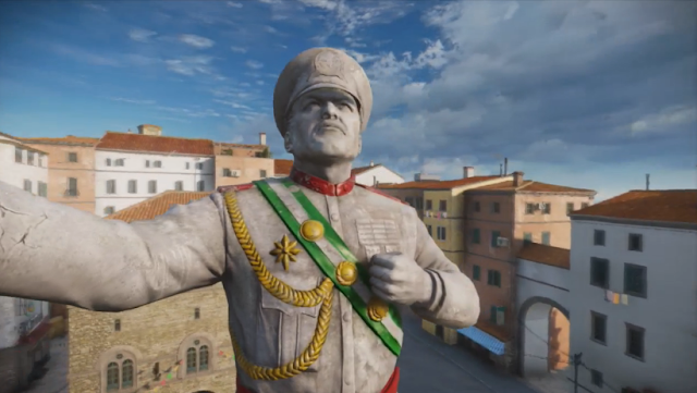 General D. Robello Rebello Just Cause 3 statue effigy