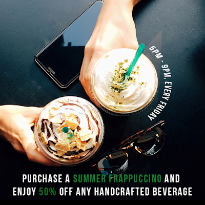 Starbucks Malaysia Summer Frappuccino Discount Friday Promo