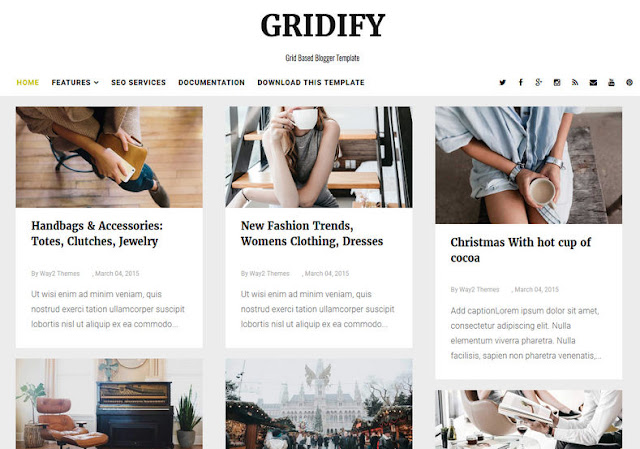 Gridify Responsive Blogger Theme