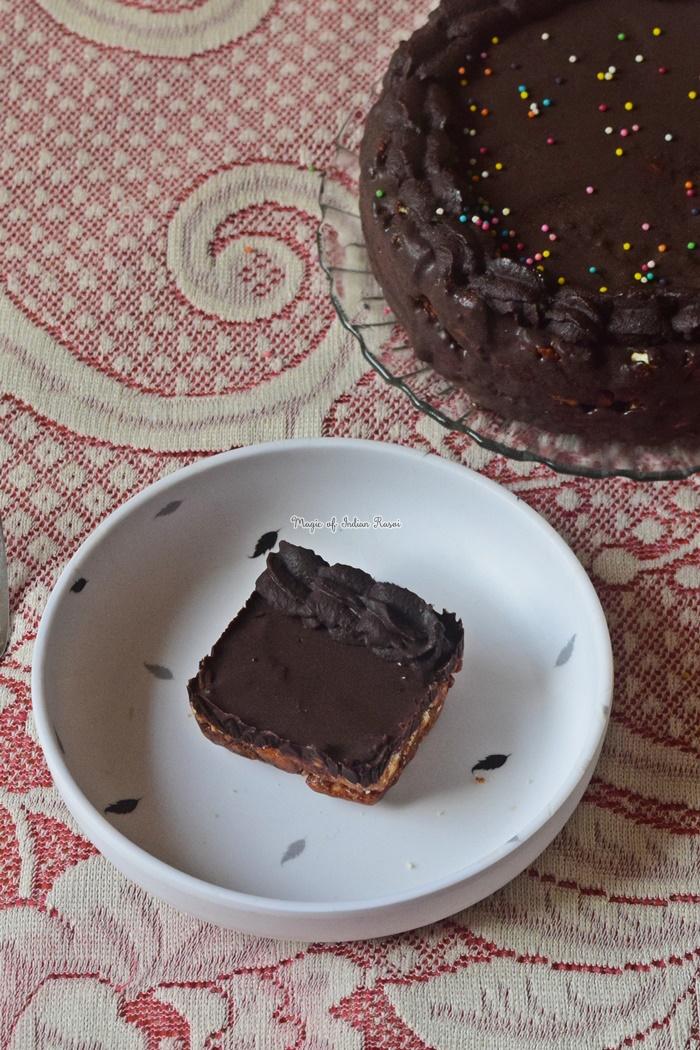 No Bake Biscuits Cake Recipe - नो बेक बिस्कुट केक  रेसिपी - Priya R - Magic of Indian Rasoi