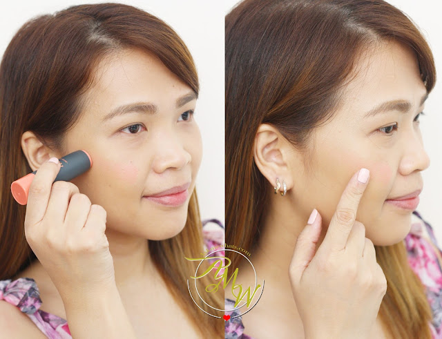 a photo on how to apply Etude House Play 101 Stick 12