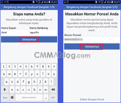 bikin akun Facebook lewat hp