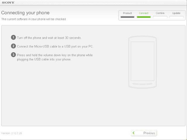 Sony Ericsson Xperia Mini ST15i Android 4 ICS update steps - 3