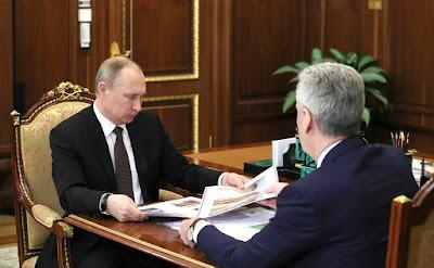 Vladimir Putin, Sergey Sobyanin.