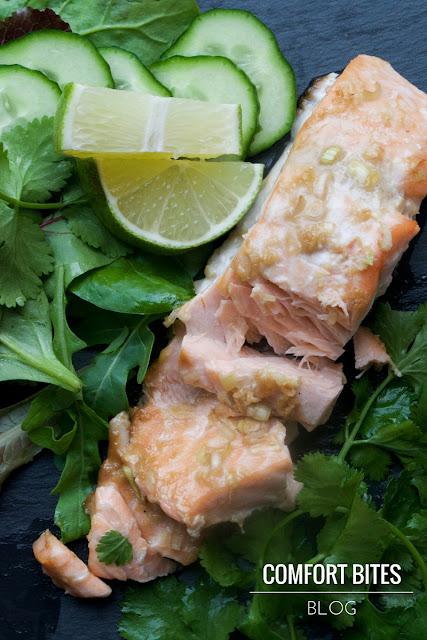 Thai Style Lemongrass and Coconut Roasted Salmon, AIP paleo dairy free