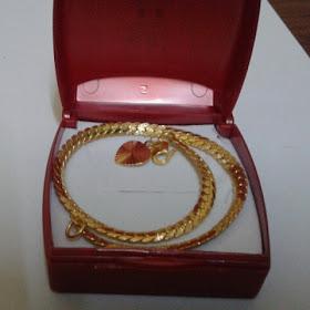Barang Kemas Sayap Infiniti Network, rantai tangan emas, emas 916, 916