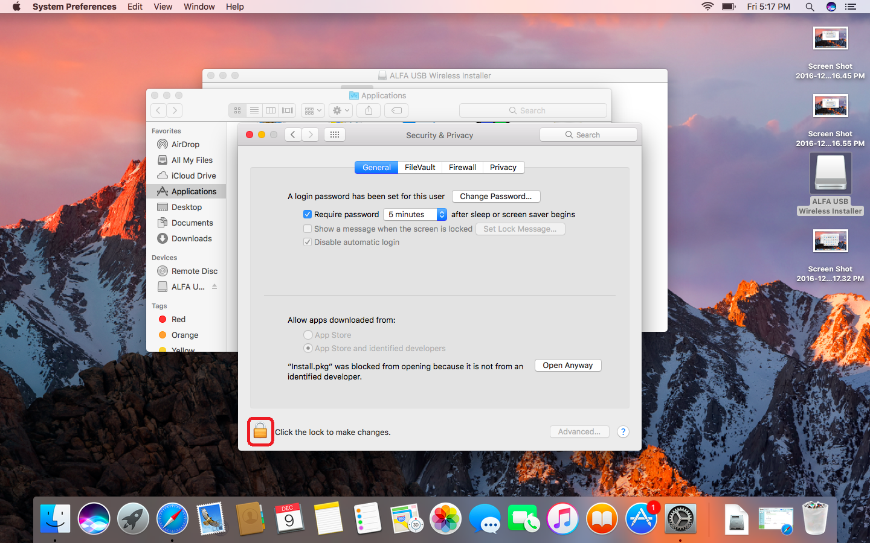 Support Mac OS X 10 12 ( Sierra ) WiFi USB Model List | ALFA NETWORK