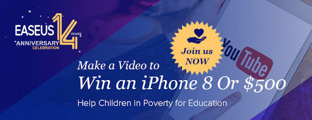 سارع الان من اجل الفوز بهاتف Iphone 8 و 500 دولار رصيد بايبال مع EaseUS !