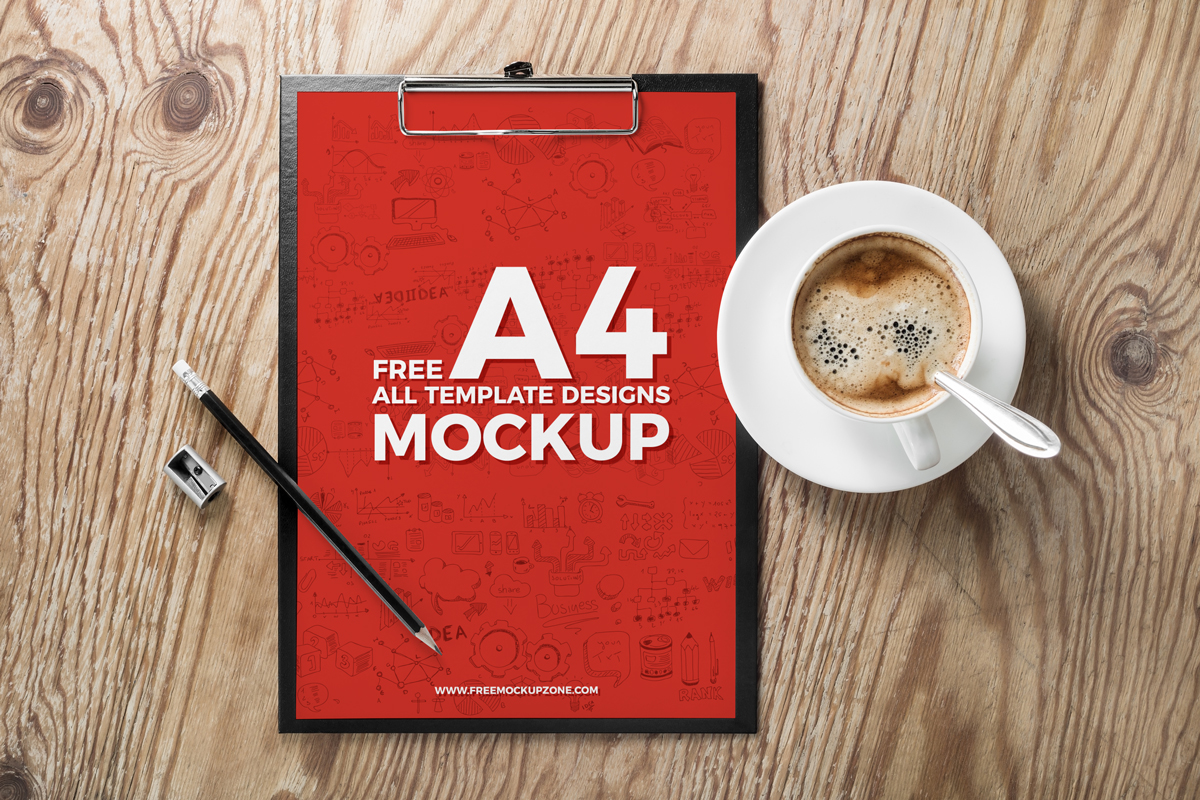 Free A4 and All Flyer Template Mockups, Free psd flyer mockup collection
