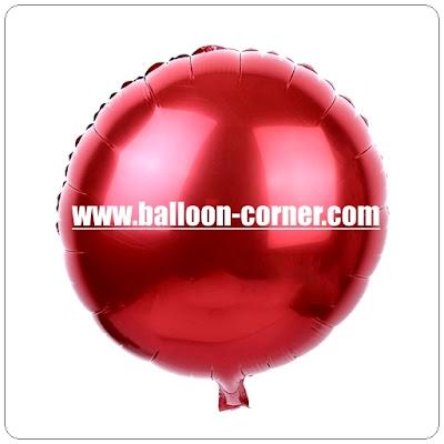 Balon Foil Bulat Polos